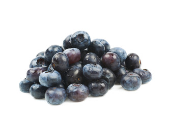 Pile of bilberries isolated