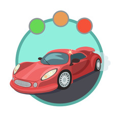 Red racing car/ Red light vehicle (car) new model with a fast acceleration with high velocity is the dream of every!
