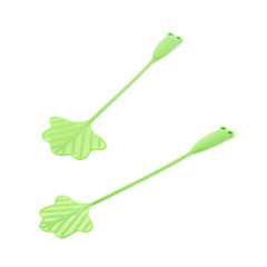 Green fly-swat swatter tool isolated