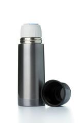 Metallic thermos flask