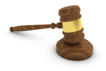 Court of Law Judge Gavel 3D Illustration