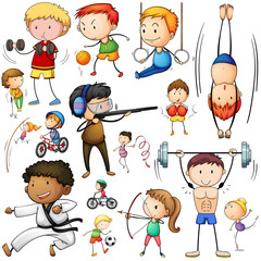 People doing different types of sports