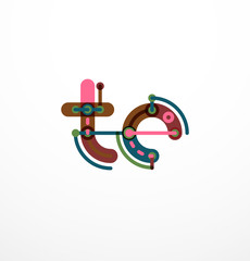 Abstract line design letter logo