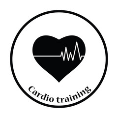 Icon of Heart with cardio diagram
