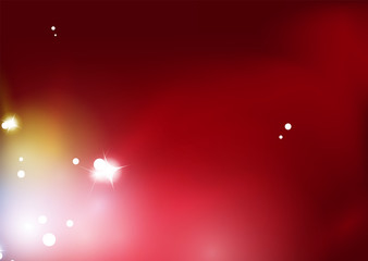 Red blurred shiny abstract background