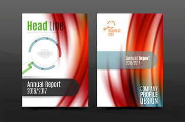 Wave pattern annual report business cover design