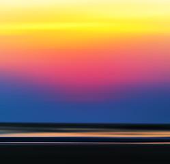 Square vivid vibrant burning ocean horizon sunset background bac