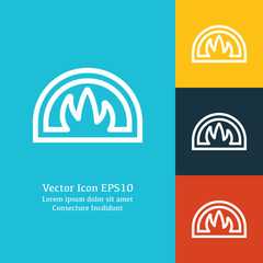 Vector illustration of oven icon
