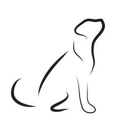 Vector illustration of dog logo.