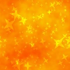 Bokeh star yellow orange colour abstract background.