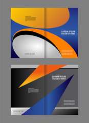Vector Abstract template brochure design