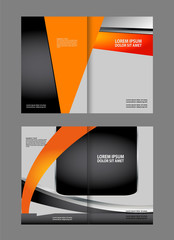 Template for advertising brochure