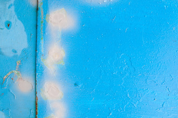 Texture. Metal Wall. A background with grey, blue attritions and