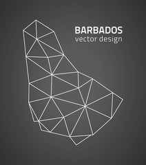 Barbados black triangle perspective vector map