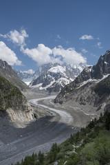 Mer De Glace Glacier - Mont Blanc massif,Chamonix,France