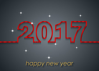 2017 Happy New Year background for invitations, festive posters.