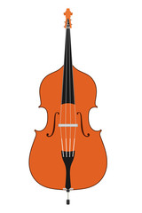 Double bass. Stringed Musical Instruments contrabass on a white