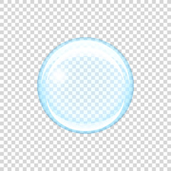 Transparent soap bubble, vector illustration