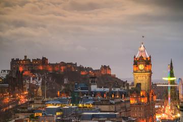 Printed kitchen splashbacks Amsterdam Old town Edinburgh and Edinburgh castle