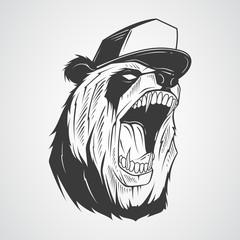 Panda with a cap