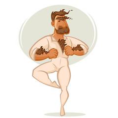 Mach Ballet Danser, Vector Cartoon Man Portrait
