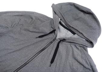 grey windbreaker waterproof hoodie jacket full zip