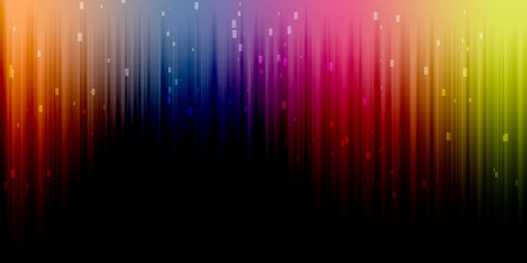 colorful bright glowing spectrum background illustration