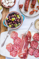 italian or spanish meat selection