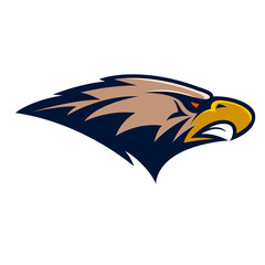 Eagle head. Sport team or club mascot.