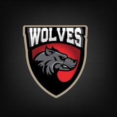 Wolves. sport team emblem.