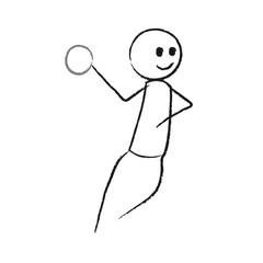 Person wirft Ball