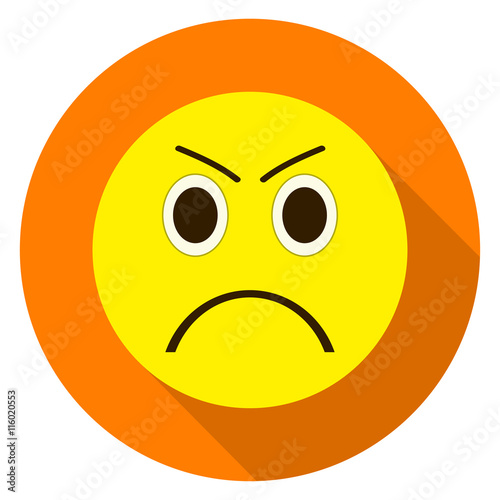 Emoticon Angry Face Angry Emoji Isolated Vector Illustration On