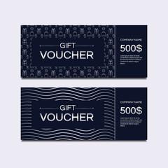 Voucher cards vector