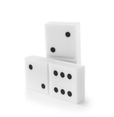 Few dominoes, isolated on white