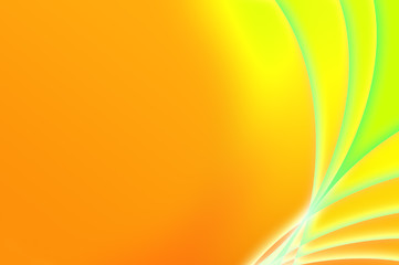 Abstract fantastic orange and green background