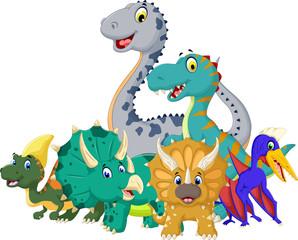 funny jurassic animal cartoon for you design