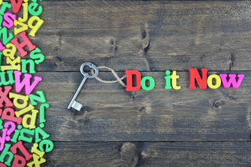 Do it now on wooden table