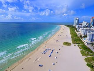 Aerial image of Miami Beach FL USA