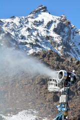 Snow Gun in Whakapapa skifield on Mount Ruapehu