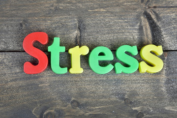 Stress on wooden table