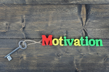 Motivation on wooden table