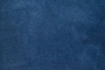 Close up blue color crumpled leather texture background Wall mural