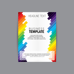 vector business brochure flyer design layout template vector wit