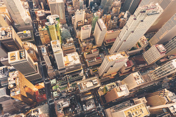 Photo sur Plexiglas Vue aerienne Aerial view of Midtown Manhattan