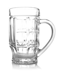 Empty beer glass, isolated on white
