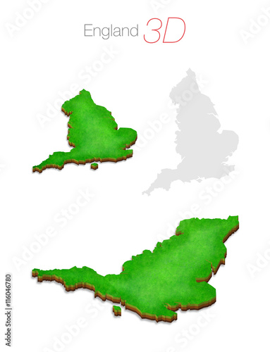 3d Map Of England.Green 3d Map England Uk Stock Photo And Royalty Free Images On