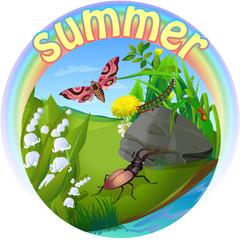 vector summer illustration  insect 2