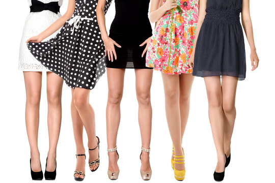 Sexy legs of female group