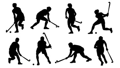 field hockey silhouettes