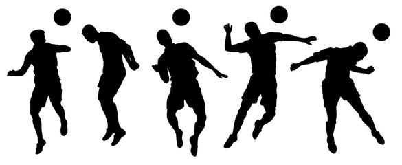 soccer header silhouettes